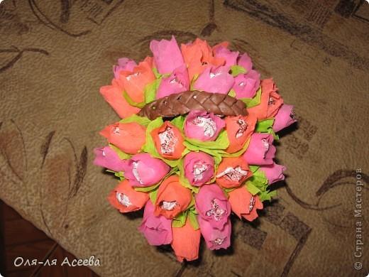 Корзинка с конфетами коллеге на День Рождения. фото 1