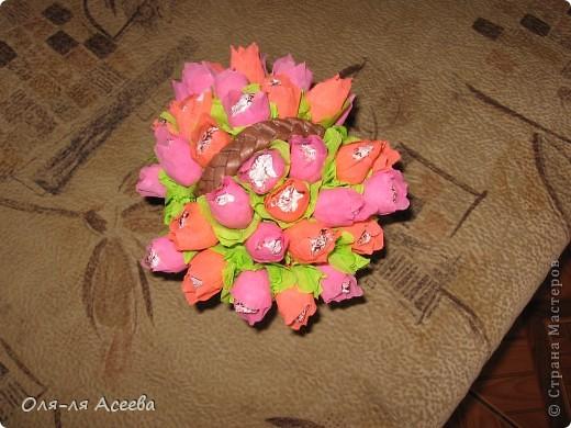Корзинка с конфетами коллеге на День Рождения. фото 3