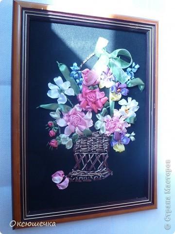 """,,Цветы для любимой мамы"""".Вышивка лентами. фото 2"""