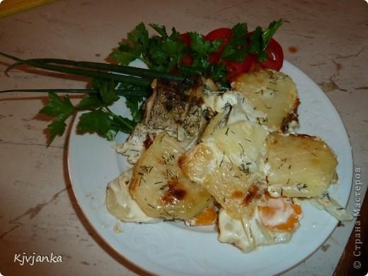 Щучки пойманные мужем, запеченные с овощами. фото 4