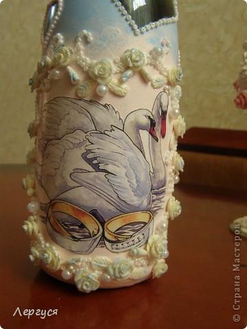 Моя  первая свадебная бутылка фото 3