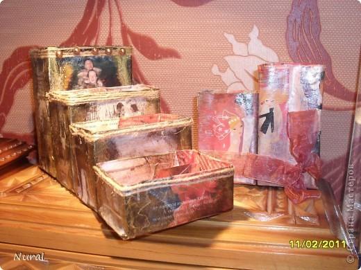Всем доброго времени суток, как то по зиме делала вот такие коробочки , так для удовольствия делала, а все раздарила друзьям. Вроде мелочь, а приятная. фото 2