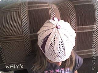 шапочка-цветок для племяшки фото 1
