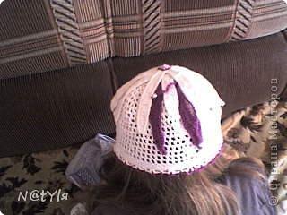 шапочка-цветок для племяшки фото 2