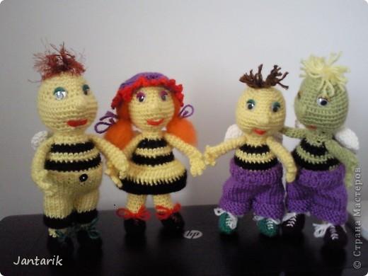 Вот семейство пчёлок-к двум уже знакомым вам пчелятам прибавилась ещё парочка-пчёлка Майя и Толстячёк. фото 10