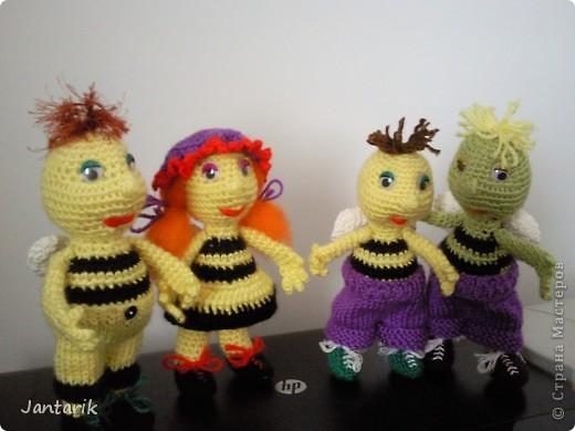 Вот семейство пчёлок-к двум уже знакомым вам пчелятам прибавилась ещё парочка-пчёлка Майя и Толстячёк. фото 1