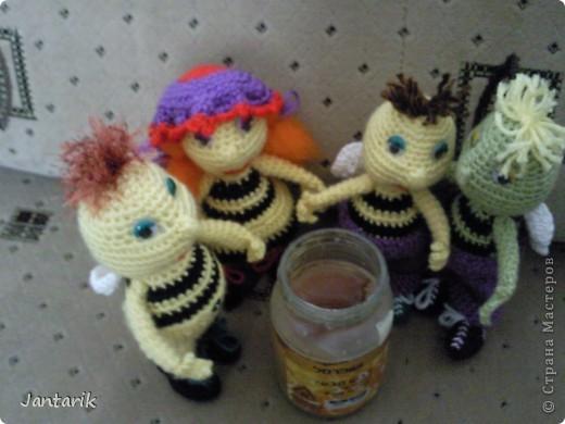 Вот семейство пчёлок-к двум уже знакомым вам пчелятам прибавилась ещё парочка-пчёлка Майя и Толстячёк. фото 9
