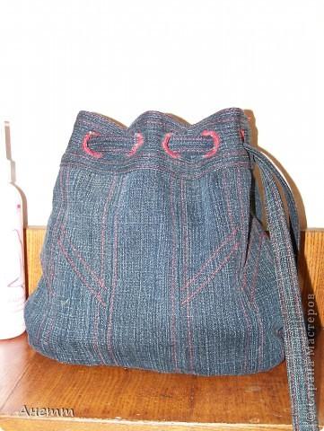 Здравствуйте друзья!Вот из старых джинц сшила кисет под косметику. фото 1