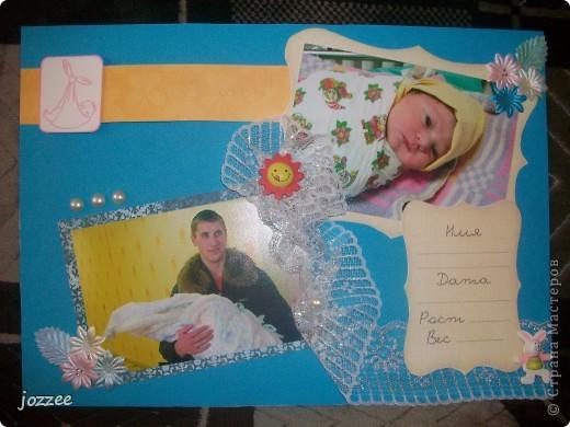 Вот соорудила свою первую скрап-страничку для альбома маленькой девочки Алисы (обложка альбома). фото 12