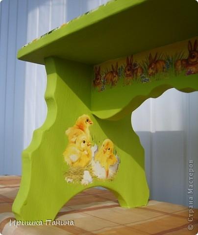 Забрала у мамы старую скамеечку и решила реанимировать её  ВОТ ТАК к следующему  садово-огородному сезону! фото 4