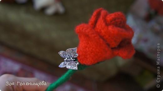 вязанная роза :)