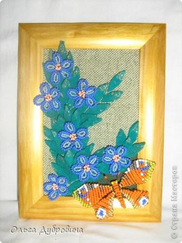 Знакомьтесь, это голубой цветок. Фон - двойной (шифон и плотная ткань такого же цвета). фото 5
