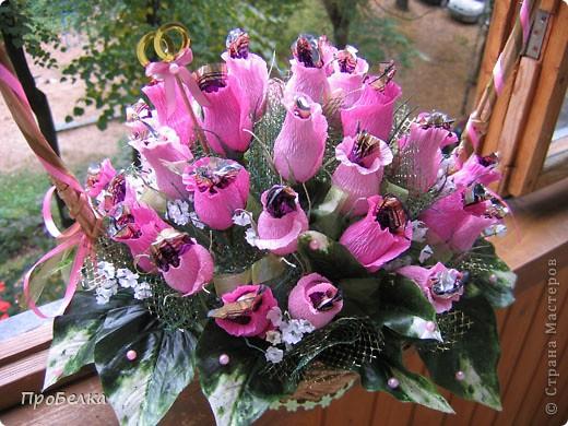 На 37-летнюю годовщину свадьбы сделала заказ в виде корзины с 37 бутонами роз. фото 3