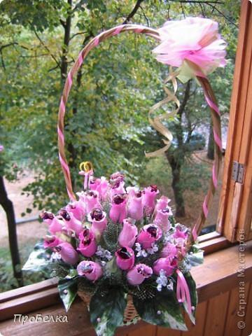 На 37-летнюю годовщину свадьбы сделала заказ в виде корзины с 37 бутонами роз. фото 2