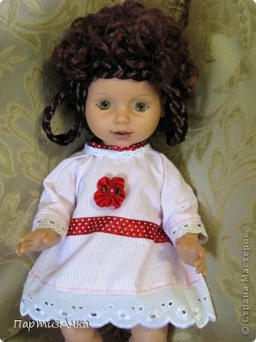 """Привет, Страна! Знакомая-логопед слёзно просила привести в порядок """"рабочую"""" куклу. Ну, не могу же я отказать?... Когда она мне её принесла, я поняла, что экипировать придётся по полной. Вот такой она ко мне попала. фото 10"""
