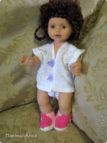 """Привет, Страна! Знакомая-логопед слёзно просила привести в порядок """"рабочую"""" куклу. Ну, не могу же я отказать?... Когда она мне её принесла, я поняла, что экипировать придётся по полной. Вот такой она ко мне попала. фото 5"""