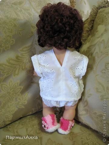 """Привет, Страна! Знакомая-логопед слёзно просила привести в порядок """"рабочую"""" куклу. Ну, не могу же я отказать?... Когда она мне её принесла, я поняла, что экипировать придётся по полной. Вот такой она ко мне попала. фото 7"""
