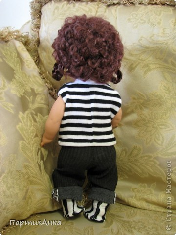 """Привет, Страна! Знакомая-логопед слёзно просила привести в порядок """"рабочую"""" куклу. Ну, не могу же я отказать?... Когда она мне её принесла, я поняла, что экипировать придётся по полной. Вот такой она ко мне попала. фото 12"""