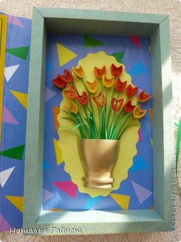 Во вторник отмечается День воспитателя.Для садиков моих дочек мы приготовили вот такие подарки в виде открыток-коробочек с букетиками цветов. фото 9