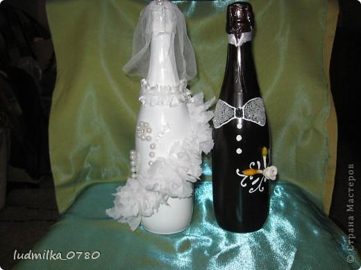 моя первая бутылочка украшенная цветами из холодного фарфора фото 5