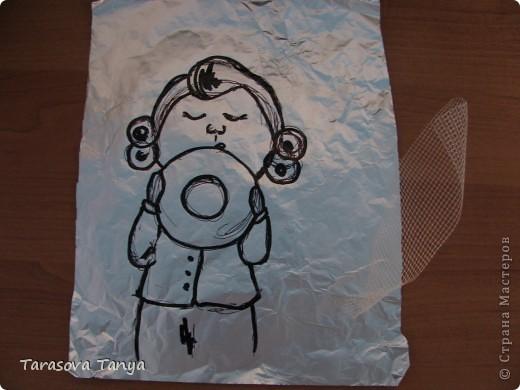 По мотивам Е.Гапчинской (очень люблю ее творчество, вдохновилась от мастеров которые тоже делали подобное) Картина-панно 56/32, на кухню уж очень хотелось. Дополнительные материалы: фанера, черная краска с баллончика, рамочка. фото 2