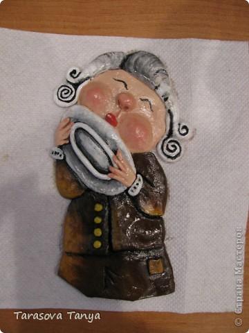 По мотивам Е.Гапчинской (очень люблю ее творчество, вдохновилась от мастеров которые тоже делали подобное) Картина-панно 56/32, на кухню уж очень хотелось. Дополнительные материалы: фанера, черная краска с баллончика, рамочка. фото 6