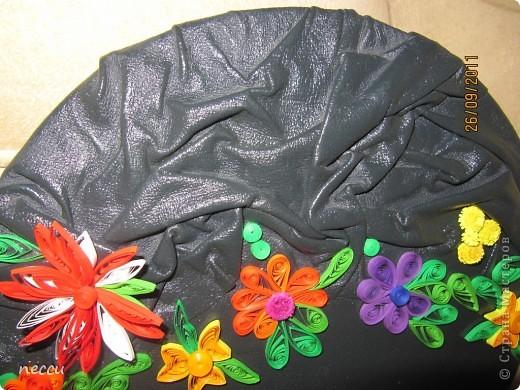 первый квиллинг ))) может на ровную часть бабочку скрутить? фото 4