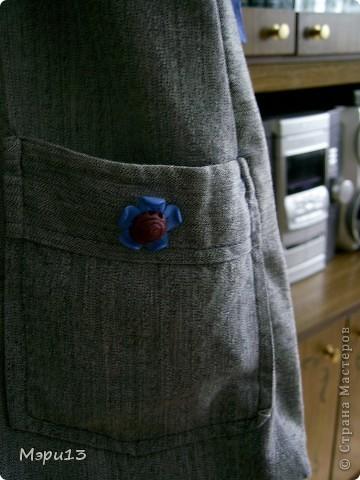 Вот какая вышла сумочка со старой рубашки) фото 2