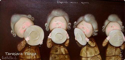 По мотивам Е.Гапчинской (очень люблю ее творчество, вдохновилась от мастеров которые тоже делали подобное) Картина-панно 56/32, на кухню уж очень хотелось. Дополнительные материалы: фанера, черная краска с баллончика, рамочка. фото 7