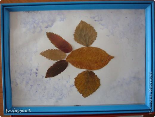 здесь испльзованы оттиски листьев для создания осеннего леса.Быстро,просто,интересно!Олесина работа... фото 5