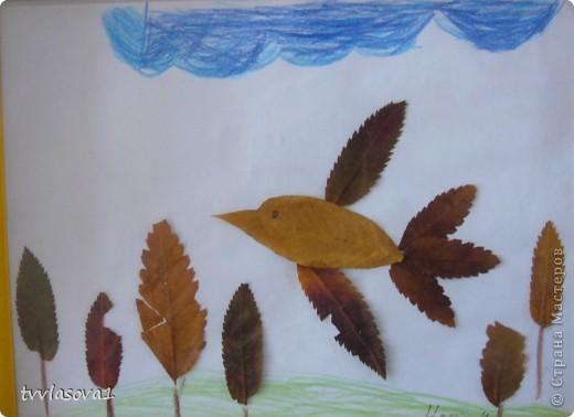 здесь испльзованы оттиски листьев для создания осеннего леса.Быстро,просто,интересно!Олесина работа... фото 3