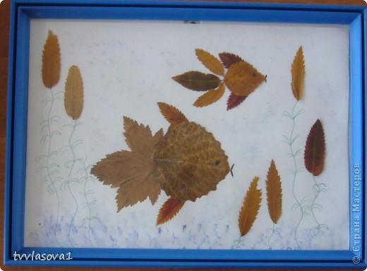 здесь испльзованы оттиски листьев для создания осеннего леса.Быстро,просто,интересно!Олесина работа... фото 7