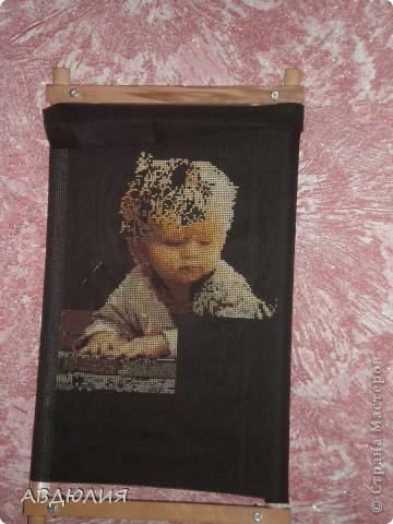 Начала новую картину и очень захотелось поделится с Вами! Вышиваю опять на канве №11, дома была черная канва решила на ней и вышивать! фото 5