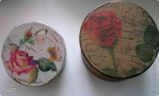 Шкатулка для ниток (декорирование коробки из-под чая) фото 15