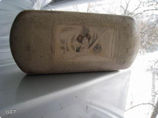 Шкатулка для ниток (декорирование коробки из-под чая) фото 4