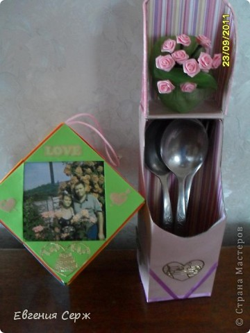 подарочек на розовую свадьбу семье старшего сына  мини альбом вся семья в сборе фото 1