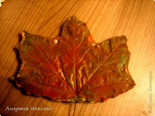 гипсовые листочки клёна фото 4