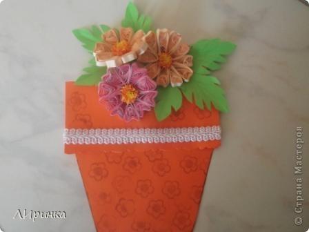 Получила первый заказ - конверт для денег. Сделала два на выбор. Выбрали этот. Делала его по МК - http://anitas-hobbyblogg.blogspot.com/2009/05/2-konfirmasjonskort-og-tutorial.html. фото 4