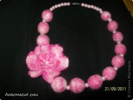 бусы с цветочком  фото 4