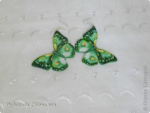Приятного Вам просмотра! Серьги и брелок Бабочки фото 2
