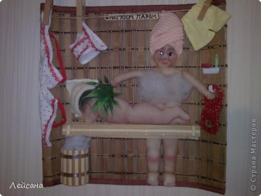 У меня все банная тема... Попросила заловка в подарок заловке :) Не откажешь, пришлось снова банщиков ваять... фото 3