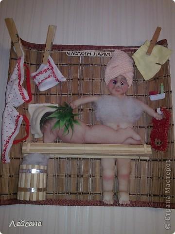 У меня все банная тема... Попросила заловка в подарок заловке :) Не откажешь, пришлось снова банщиков ваять... фото 1