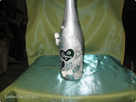 моя первая бутылочка украшенная цветами из холодного фарфора фото 6