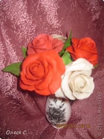 Первая моя роза из холодного фарфора размером с настоящюю))) фото 3