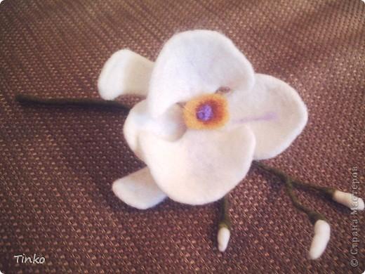 """Брошь """"Шиповник"""". Делала по МК Юлии Казаковой. Это вторая попытка. Первая, орхидея, для брошки оказалась великовата. фото 5"""
