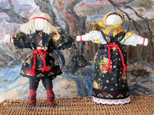 Неразлучники - сделаны на основе традиционной славянской куклы. фото 1