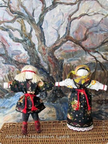 Неразлучники - сделаны на основе традиционной славянской куклы. фото 2