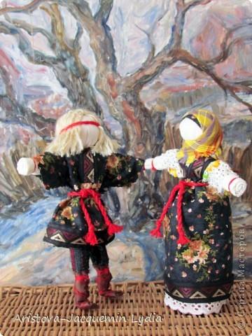 Неразлучники - сделаны на основе традиционной славянской куклы. фото 3