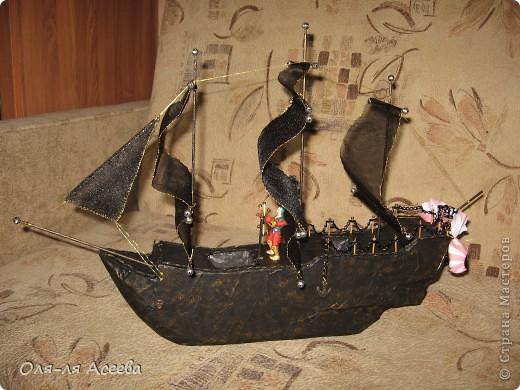 Корабль сделан по МК Elena_Mayorova Спасибо вам огромное! Подарок получился шикарный, сама довольна своим творением. фото 2