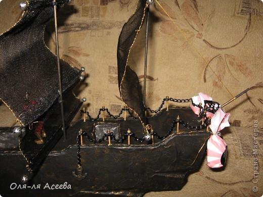 Корабль сделан по МК Elena_Mayorova Спасибо вам огромное! Подарок получился шикарный, сама довольна своим творением. фото 4